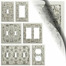 Antique White Filigree Switch Plate Cover Arabesque Wallplat