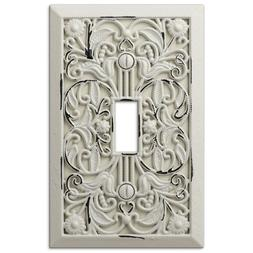 Arabesque Filigree Antique White Switch Plate Outlet Cover W