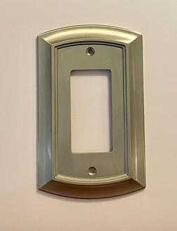 BRAINERD ARCHED SINGLE DECORATOR SATIN NICKEL OUTLET WALL PL