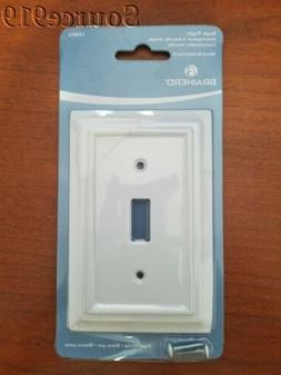 Brainerd Architectural 1-Gang Pure White Single Toggle Wall