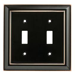 Brainerd Architectural 2-Gang Delta Oil Rubbed Bronze Double