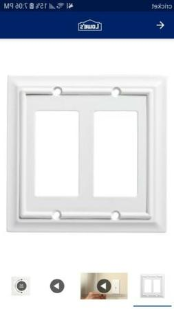 Brainerd Architectural 2 Gang Pure White Double Wall Plate C