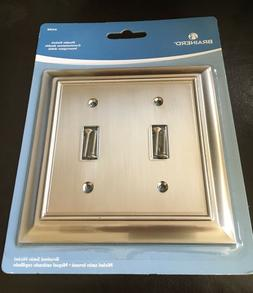 BRAINERD ARCHITECTURAL DOUBLE SWITCH TOGGLE SATIN NICKEL WAL