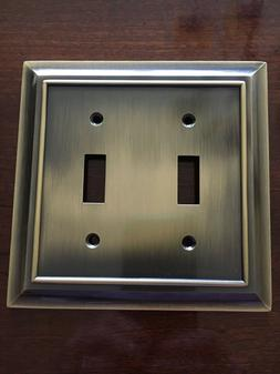 architectural double switch toggle wall plate antique