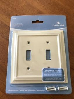 BRAINERD ARCHITECTURAL LIGHT ALMOND WOOD DOUBLE TOGGLE SWITC
