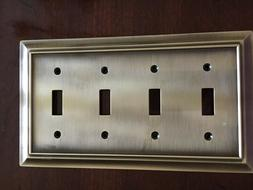 BRAINERD ARCHITECTURAL QUAD SWITCH TOGGLE WALL PLATE ANTIQUE