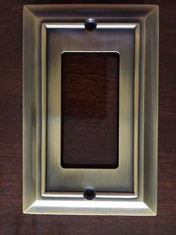 architectural single decorator outlet wall plate antq