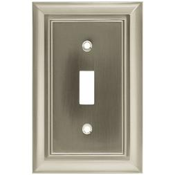 Architectural Single Switch Wall Plate - Finish: Satin Nicke