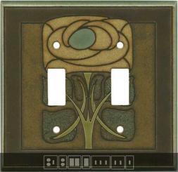 Art Nouveau Flower Ceramic Switch Plates, Wall Plates & Outl