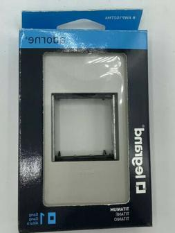 Legrand Adorne AWP1G2TM6 GANG WALL PLATE -magnesium - NEW IN