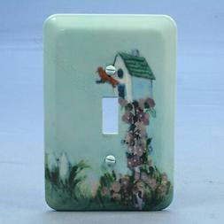 Leviton Baby Blue Bird House Wall Plate Switch Metal Cover S