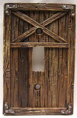 Barn Door Design Single Light Switch Plate Cover Rustic Cabi