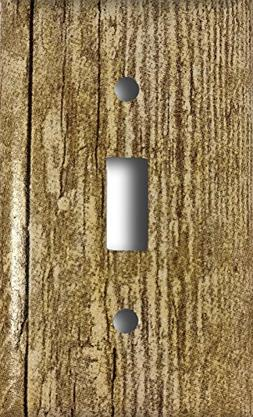 Barn Wood Design Single Toggle Light Switch Wall Plate