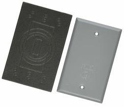 TayMac BC100S Weatherproof Metallic Device Cover, Blank, Sin
