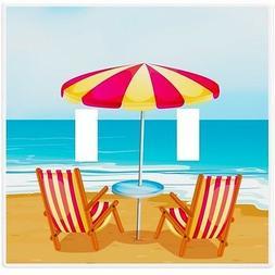 Beach Chairs Umbrella Wallplate Wall Plate Decorative Light
