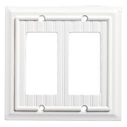 Brainerd Beadboard 2-Gang Pure White Double Decorator Wall P