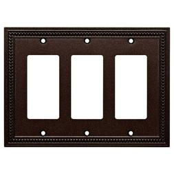 Brainerd Beaded 3-Gang Cocoa Bronze Triple Decorator Standar