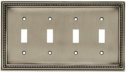 Brainerd Beaded Quad Switch Wall Plate, Available in Multipl