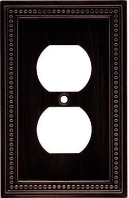 Brainerd  Beaded Single Duplex Outlet Wall Plate / Cover,Ve