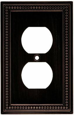 Beaded Single Duplex Wall Plate - Finish: Venetian Bronze