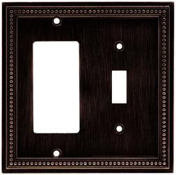 Beaded Single Switch/Decorator Wall Plate - Finish: Venetian