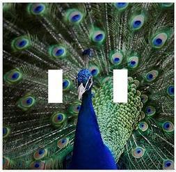 Beautiful Peacock Wallplate Wall Plate Decorative Light Swit