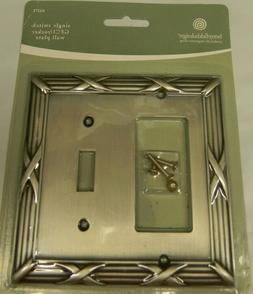 BETSY FIELDS DESIGN BRUSHED SATIN PEWTER SINGLE SWITCH WALL