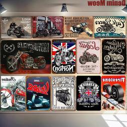 Biker Grandad Car Motorcycle Metal Poster Vespa Retro Plaque