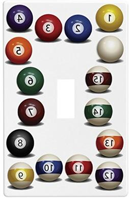 Billiards Pool Balls Wallplate Switch Plate Cover (1 Gang -