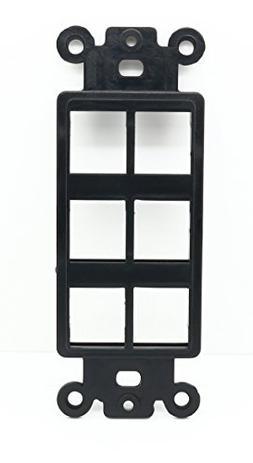 RiteAV Black Blank 6 Port Modular Insert for Keystone Jacks