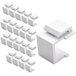 Cable Matters  Blank Keystone Jack Inserts in White