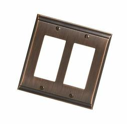 Amerock BP36505ORB Candler 2 Rocker Wall Plate - Oil-Rubbed