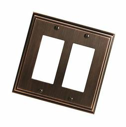 Amerock BP36519ORB Mulholland 2 Rocker Wall Plate - Oil-Rubb
