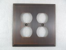 Amerock BP36523ORB Mulholland 2 Receptacle Wall Plate - Oil-