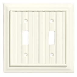 Brainerd 126359 Beadboard Double Toggle Switch Wall Plate /