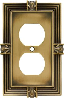 Brainerd 64472 Pineapple Single Duplex Outlet Wall Plate / S