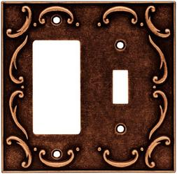 Brainerd French Lace Single Switch/Decorator Wall Plate