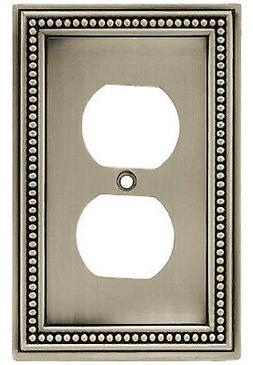 BRAINERD MFG CO/LIBERTY HDW Duplex Wall Plate, 1-Gang, Beade
