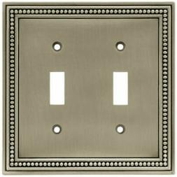 BRAINERD MFG CO/LIBERTY HDW Toggle Wall Plate, 2-Gang, Beade