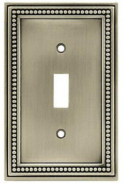 BRAINERD MFG CO/LIBERTY HDW Toggle Wall Plate, 1-Gang, Beade