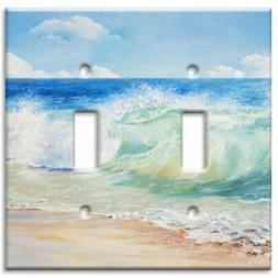 Art Plates Brand Double Toggle Switch/Wall Plate - Beach Pai
