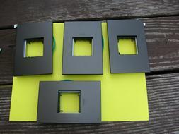 Brand  New -  Legrand Adorne 1 Gang Wall Plate  Graphite
