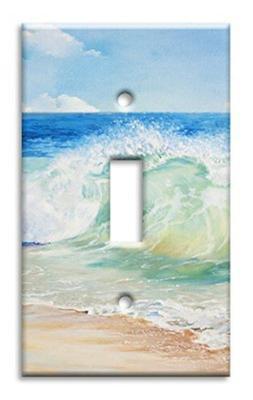 Art Plates Brand Single Toggle Switch/Wall Plate - Beach Pai