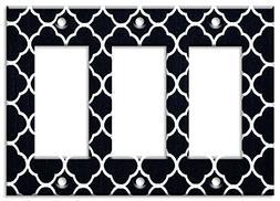 brand triple gang rocker switch wall plate