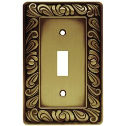 Brass Paisley Switch Plate Single Light Toggle Decorative Wa