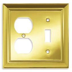 BRAINERD Brass Single Light Switch Duplex Wallplate Outlet C