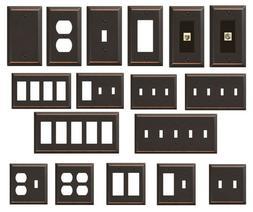 Bronze Wallplate Hampton Bay Metallic Steel Switch Outlet Pl