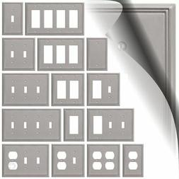 Brushed Nickel Switch Plate Satin Metro Line Wallplate Toggl
