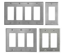 ENERLITES Decorator Switch Outlet Wall Plate 430 Stainless S