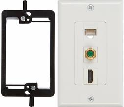 Buyer's Point HDMI 3GHz Coax Ethernet Wall Plate
